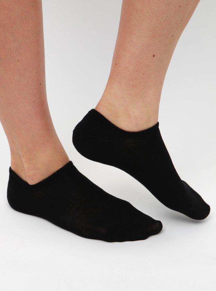 Sada siedmich párov nízkych čiernych ponožiek TALLY WEiJL