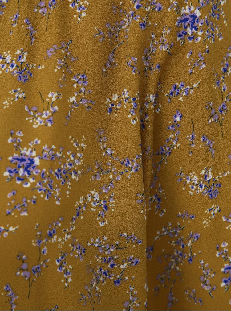Hořčicová květovaná halenka Jacqueline de Yong Zoey