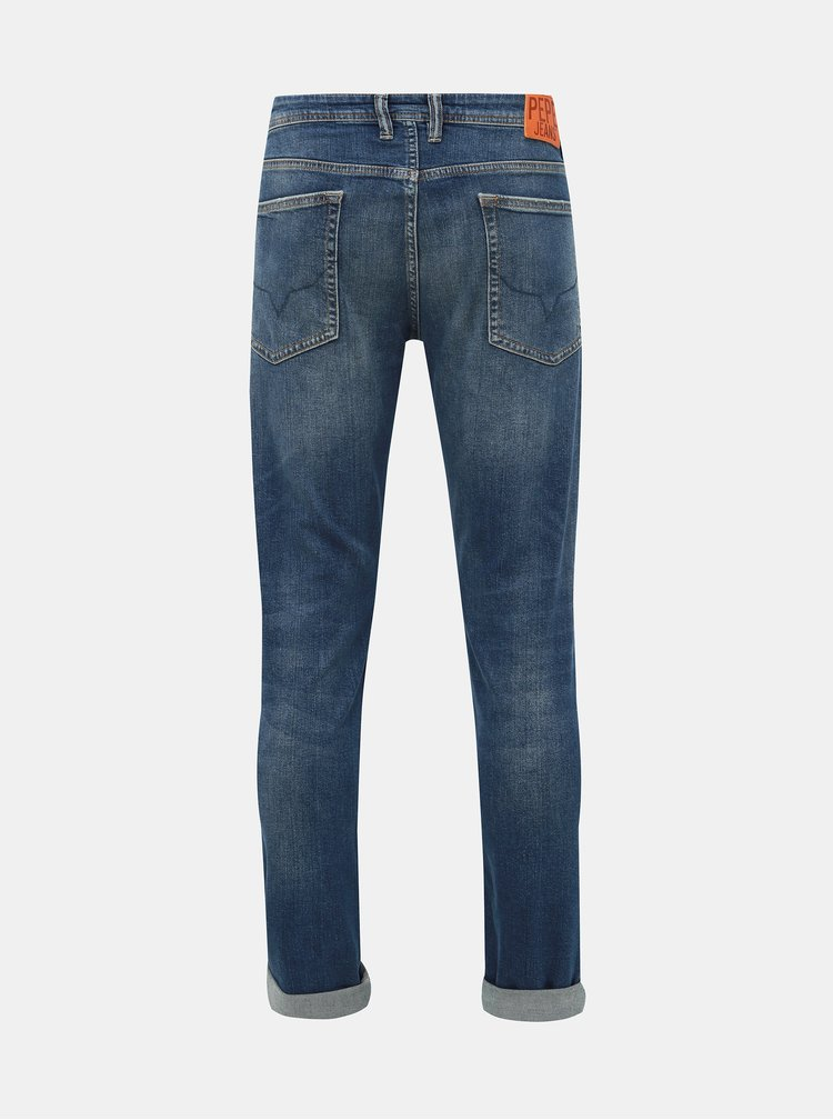 Modré pánske slim fit rifle Pepe Jeans Hatch Deep
