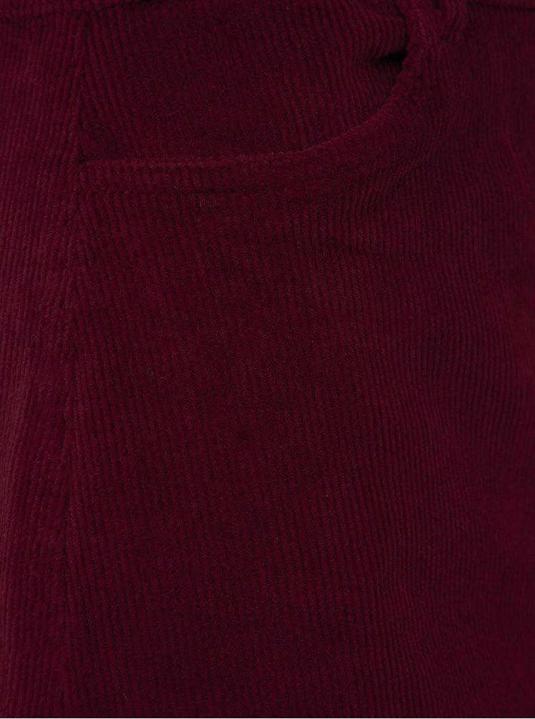 Vínová menčestrová sukňa ONLY Global