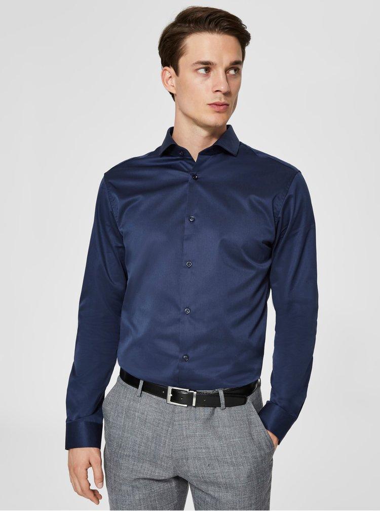 Tmavě modrá regular fit košile Selected Homme