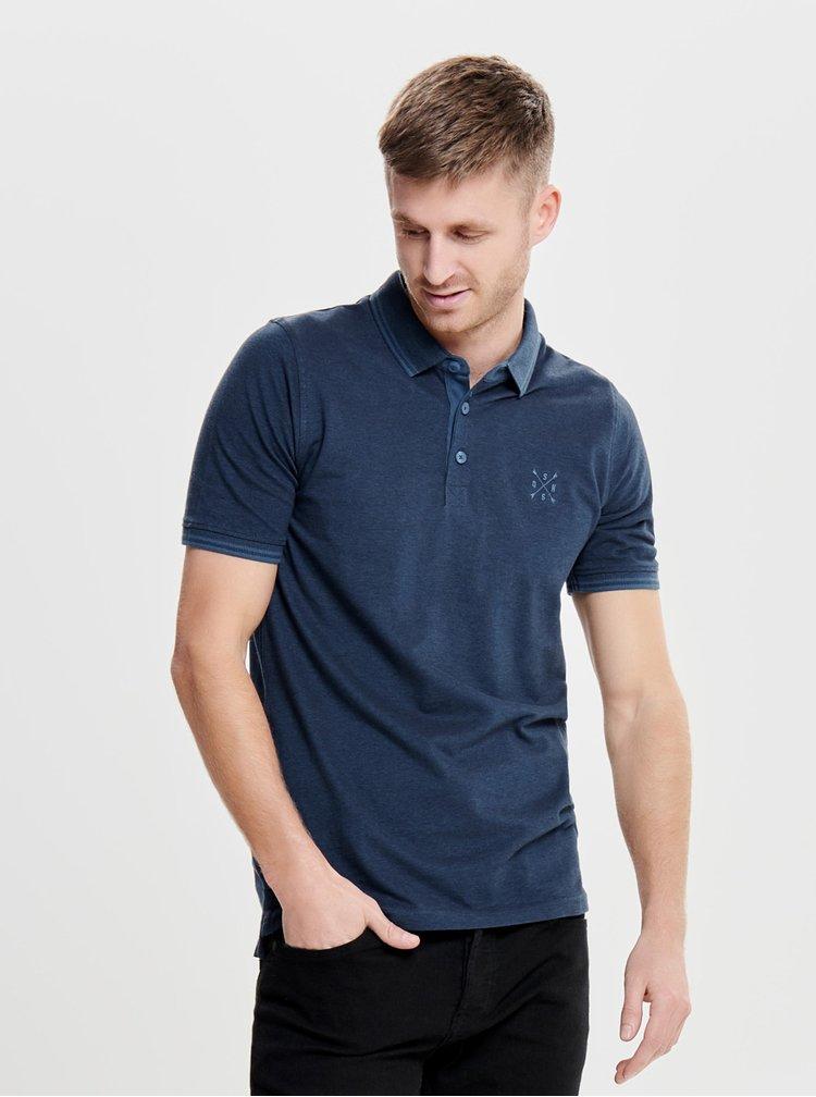 Tmavě modré polo tričko ONLY & SONS Stan