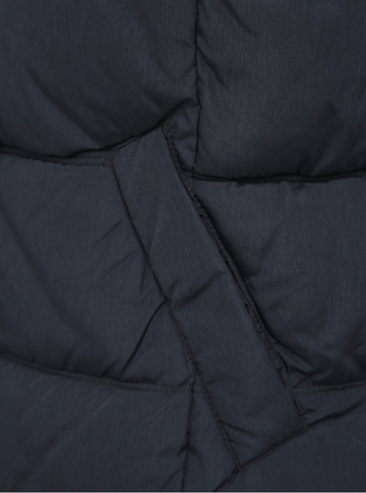 Tmavě modrá zimní prošívaná vesta ONLY North