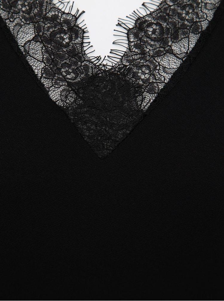 Černá halenka s krajkou VERO MODA Milla