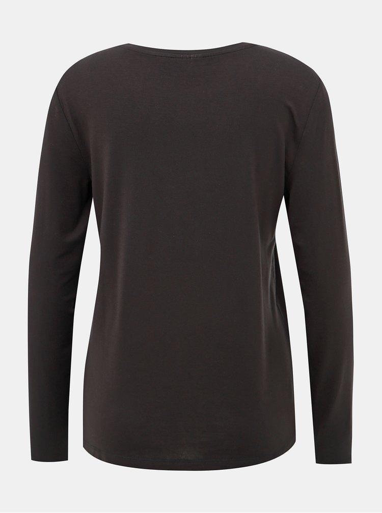 Černé basic tričko AWARE by VERO MODA Mava