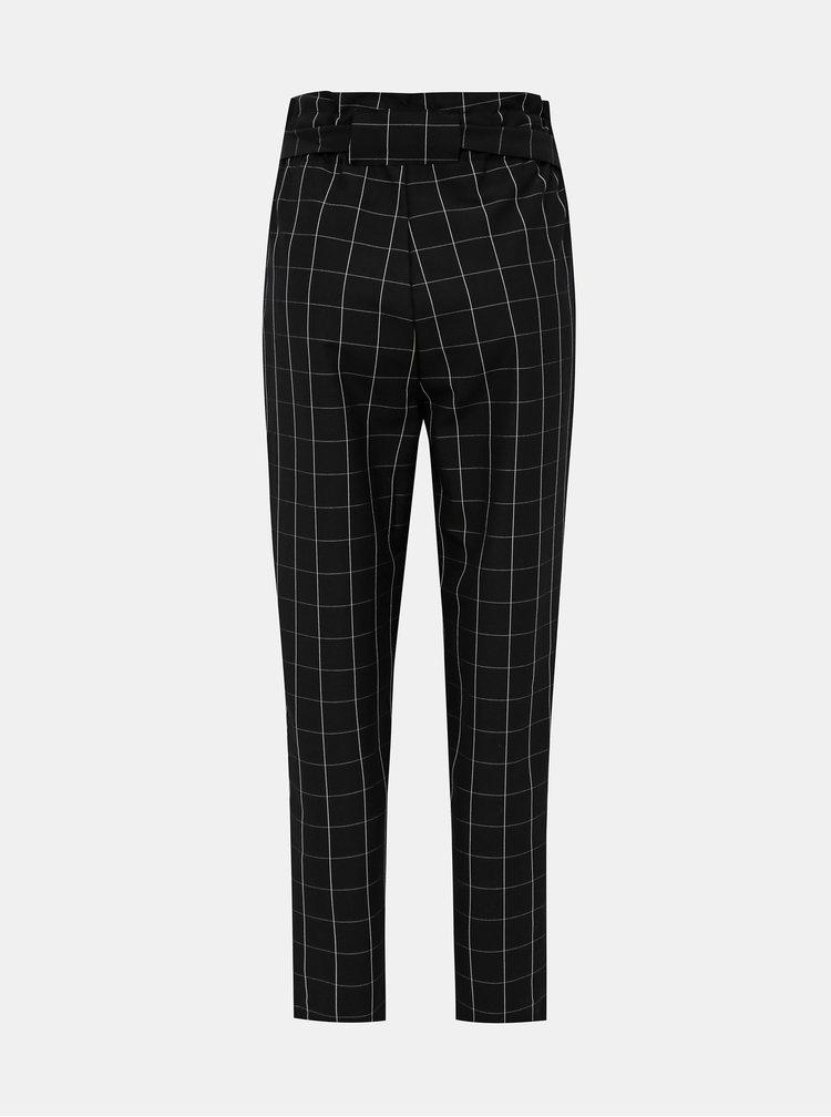 Čierne dámske kockované nohavice Haily´s Alina