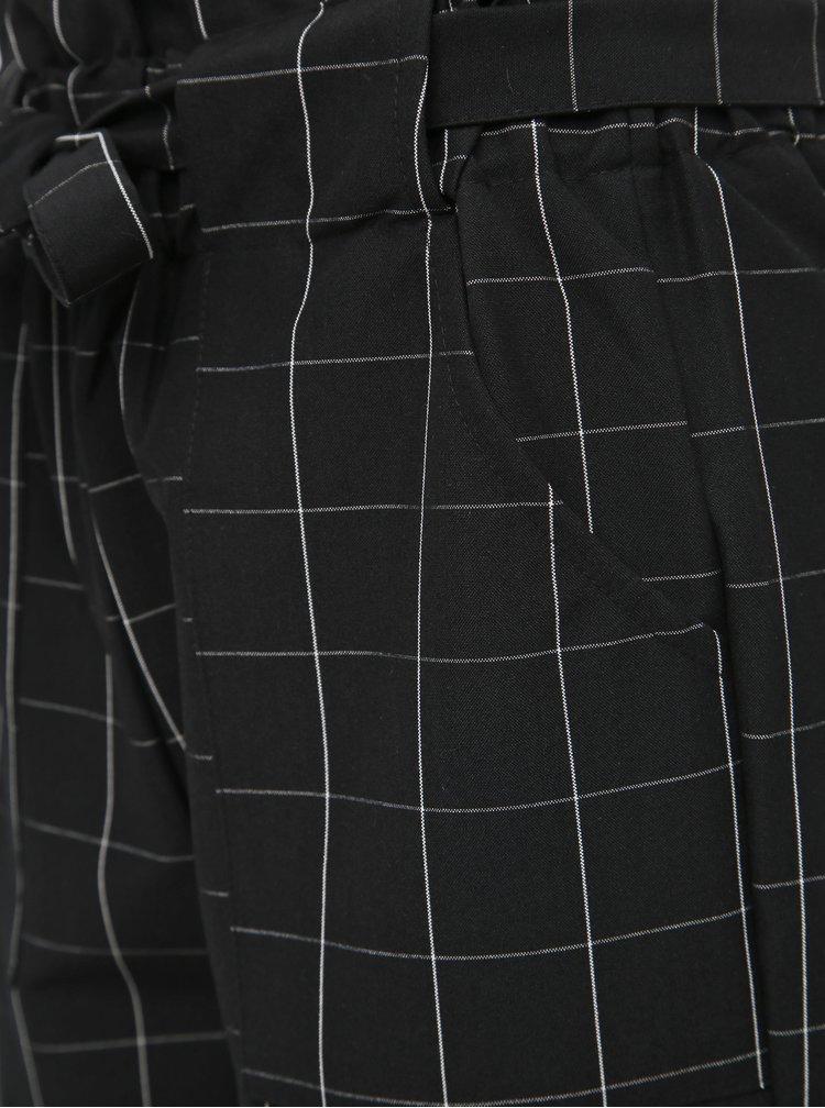 Černé dámské kostkované kalhoty Haily´s Alina