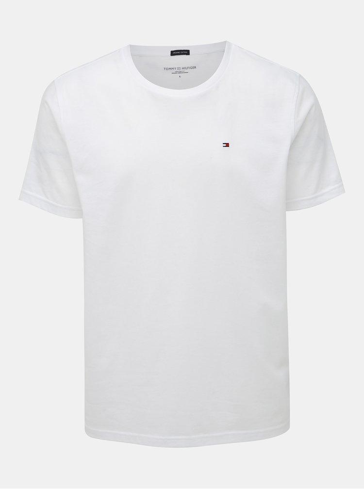 Biele pánske basic tričko Tommy Hilfiger