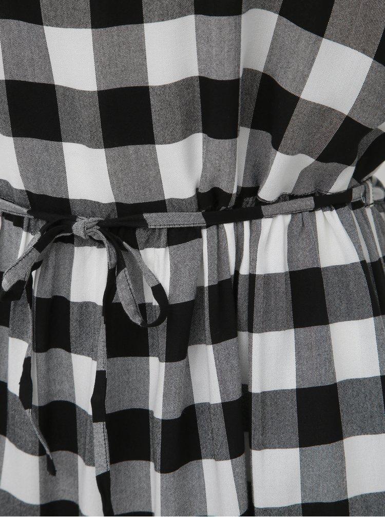 Bielo-čierne kockované šaty Miss Selfridge