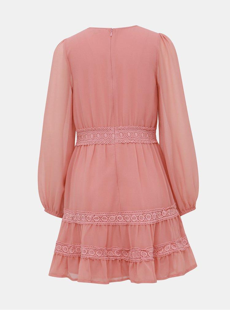 Rúžové šaty Miss Selfridge