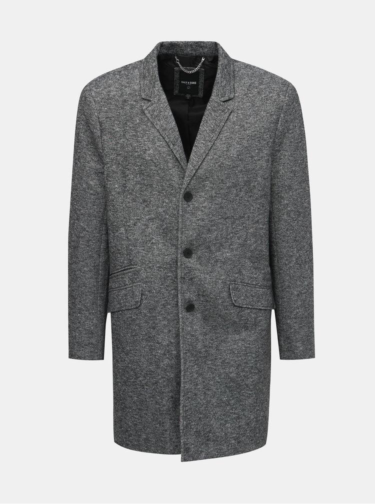 Šedý kabát ONLY & SONS Julian