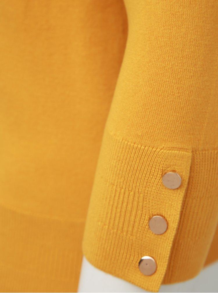 Horčicový sveter Dorothy Perkins Curve