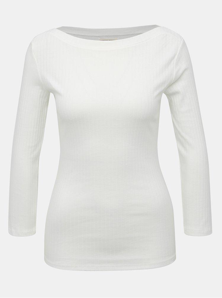 Biele rebrované tričko Dorothy Perkins