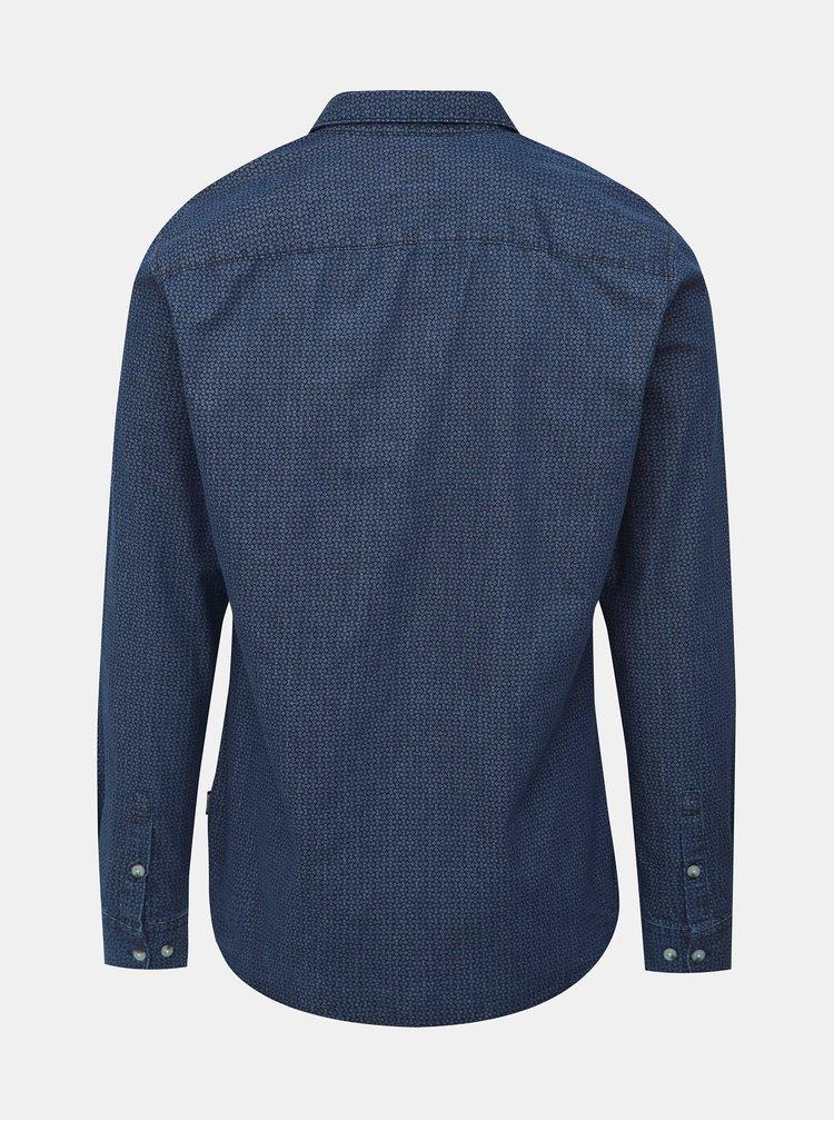 Tmavě modrá vzorovaná košile ONLY & SONS Klas