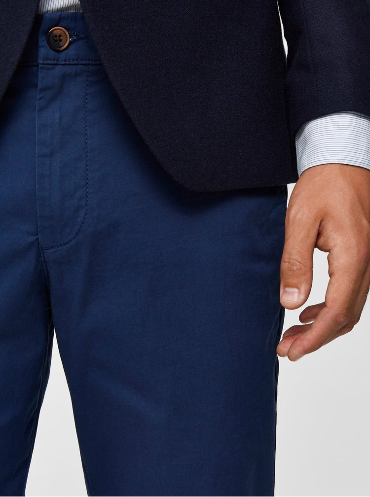 Modré slim fit nohavice Selected Homme Yard