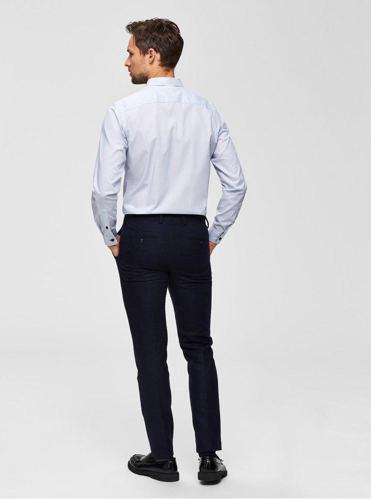 Biela bodkovaná slim fit košeľa  Selected Homme Pen