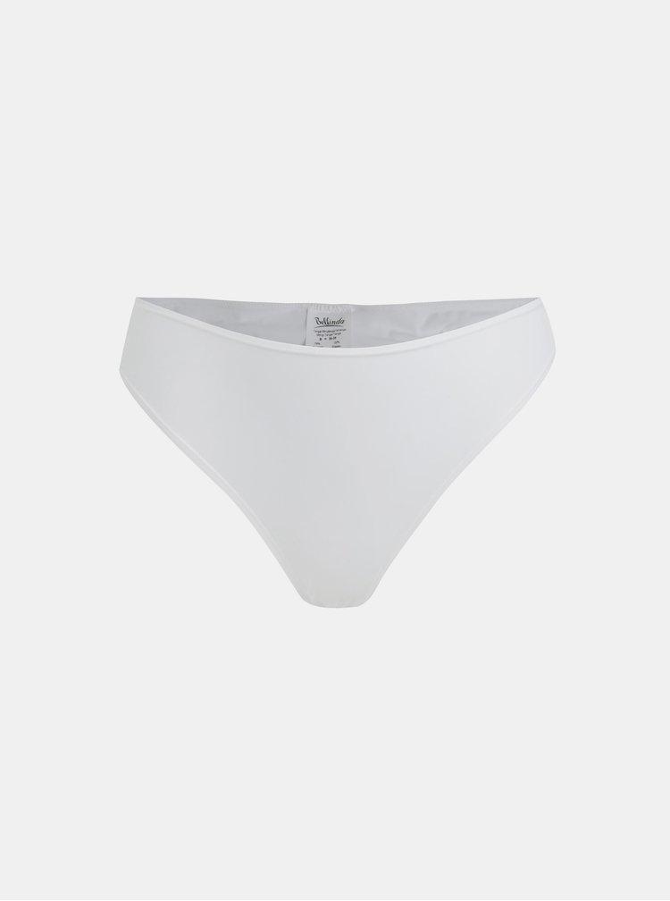 Súprava dvoch tanga nohavičiek v bielej farbe Bellinda