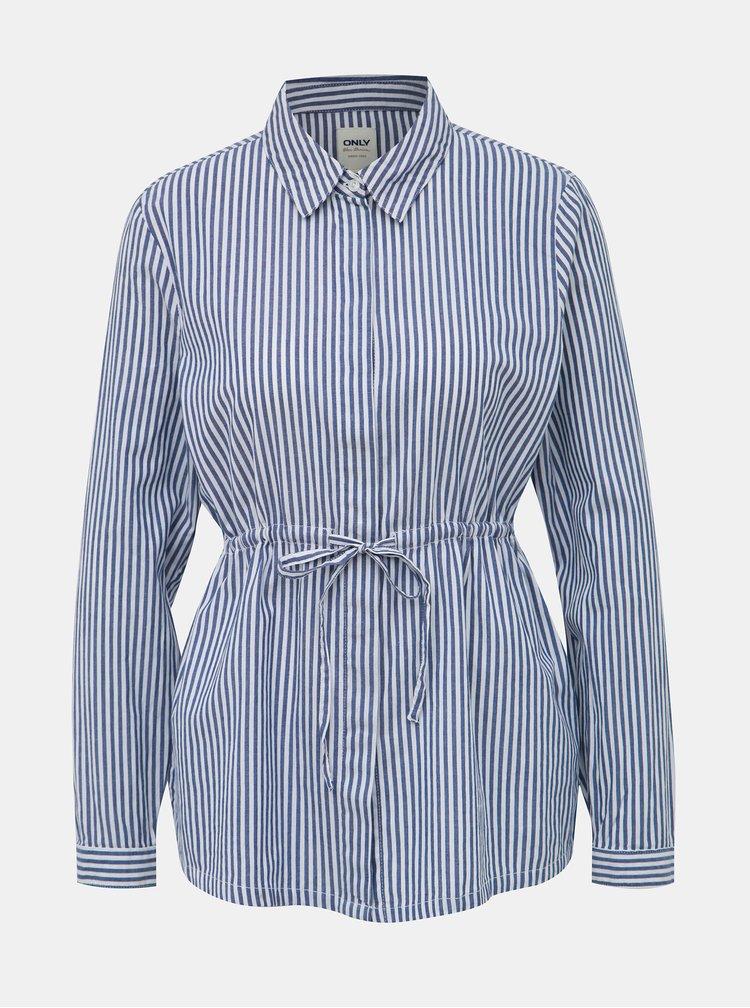 Bielo-modrá pruhovaná košeľa ONLY Karinka