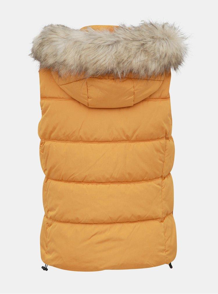 Žltá prešívaná vesta ONLY North