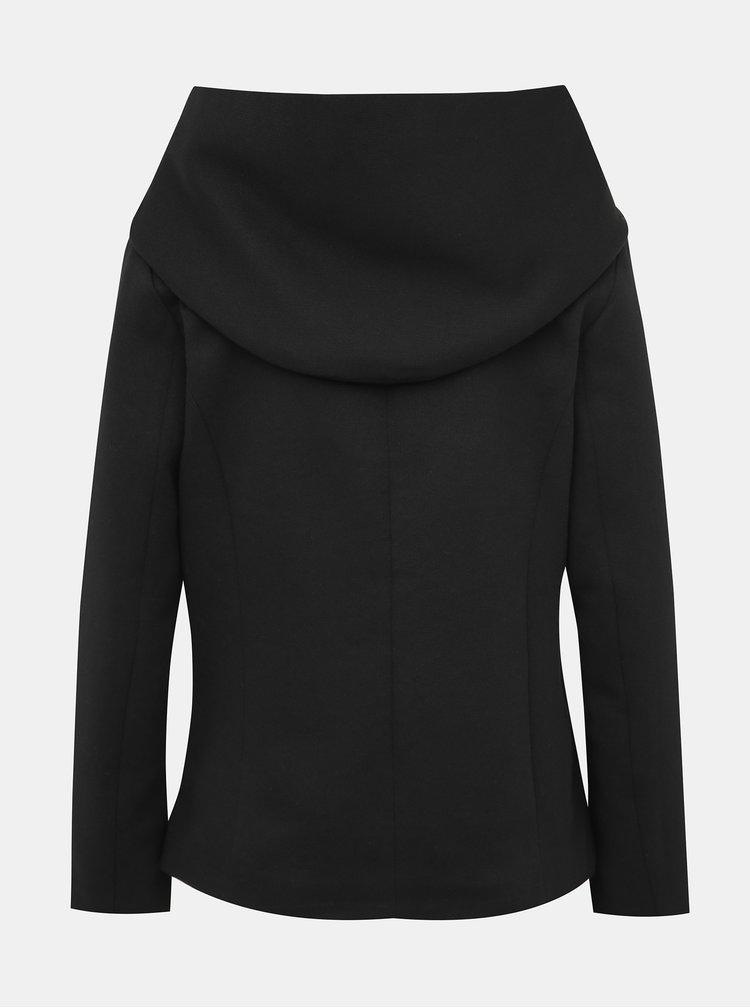 Čierny krátky kabát ONLY Sedona