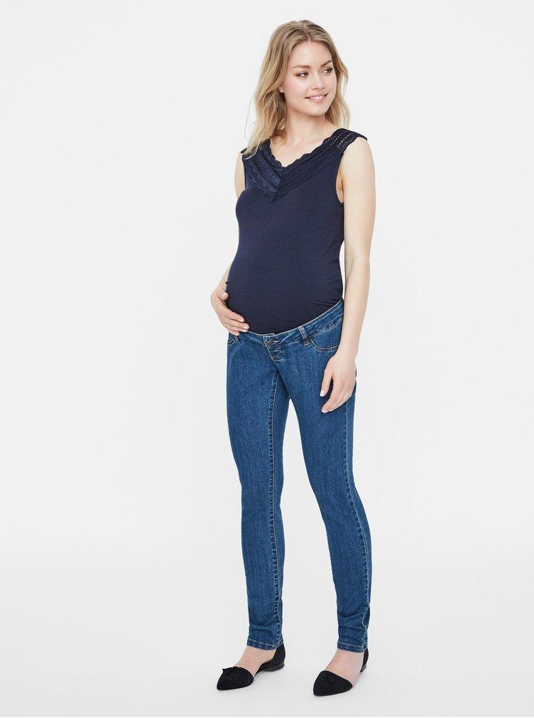 Modré těhotenské džíny Mama.licious Julia