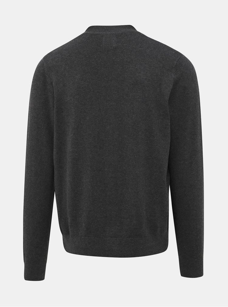 Šedý basic kardigan Burton Menswear London