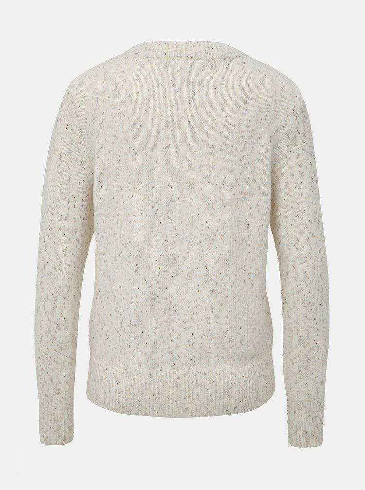 Krémový vzorovaný sveter VERO MODA Akua