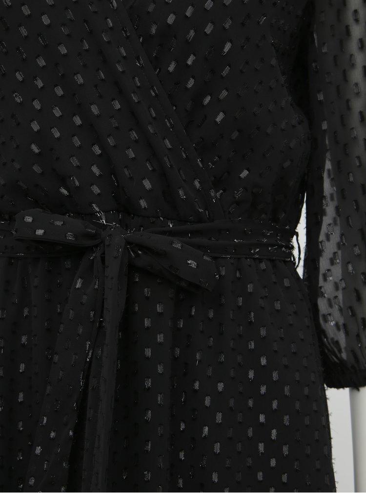 Černé vzorované maxišaty VILA Mizza