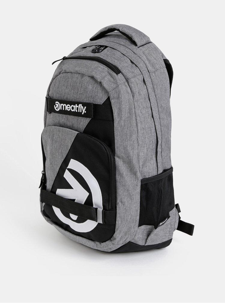 Šedý batoh s penálem Meatfly Exile 4 22 l