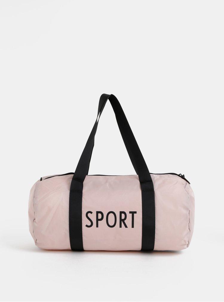 Staroružová športová taška Design Letters