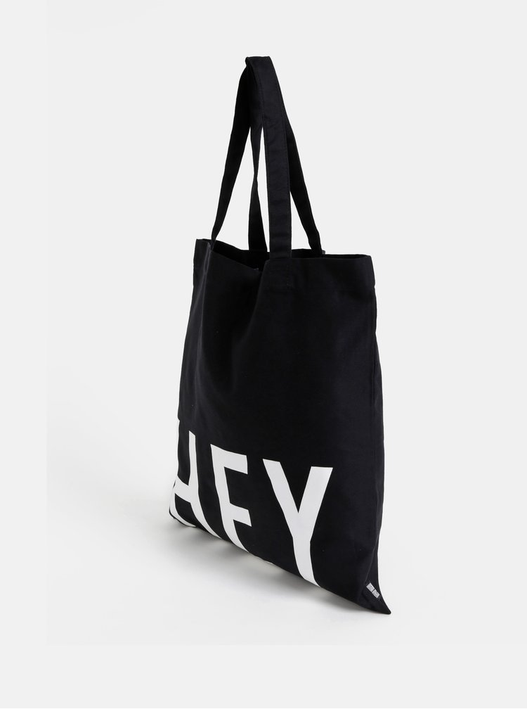 Čierna plátená taška Design Letters