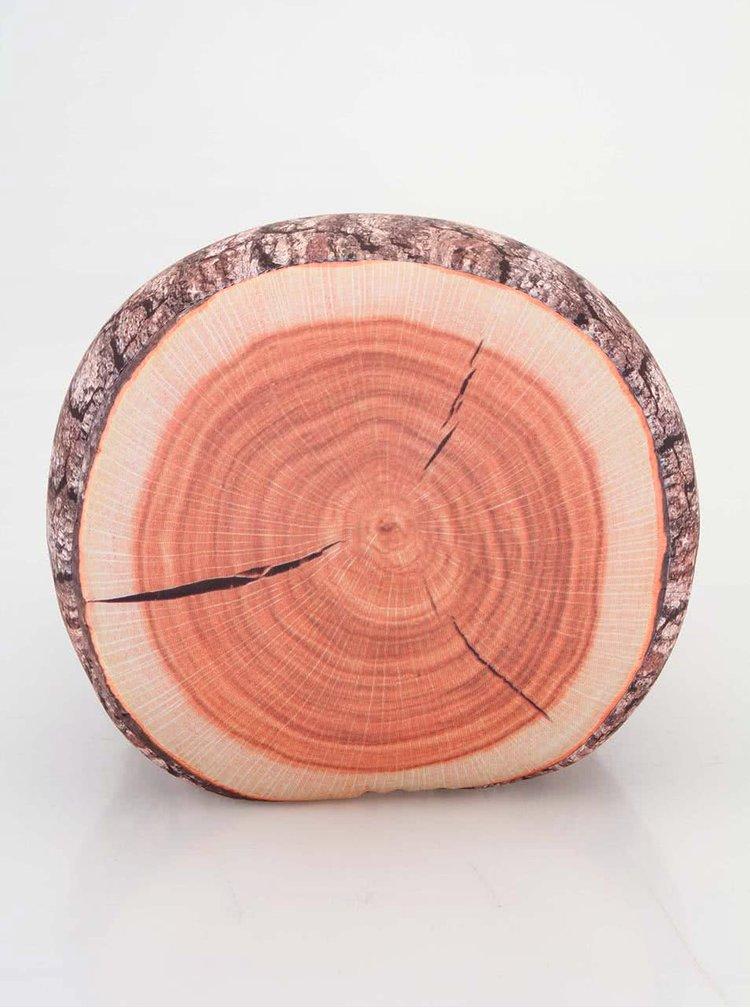 Hnědý polštář ve tvaru polínka Kikkerland