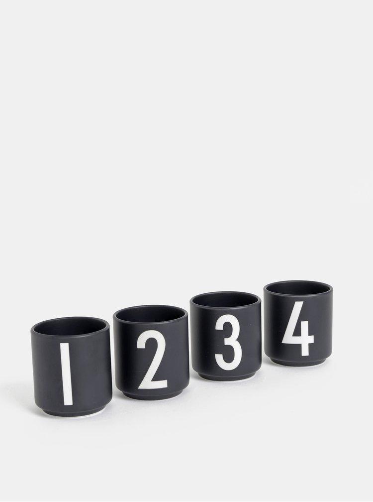 Černé hrnečky na espresso Design Letters
