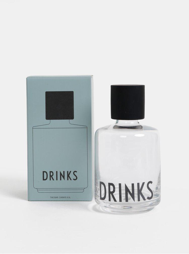 Skleněná karafa Design Letters Drinks 500 ml