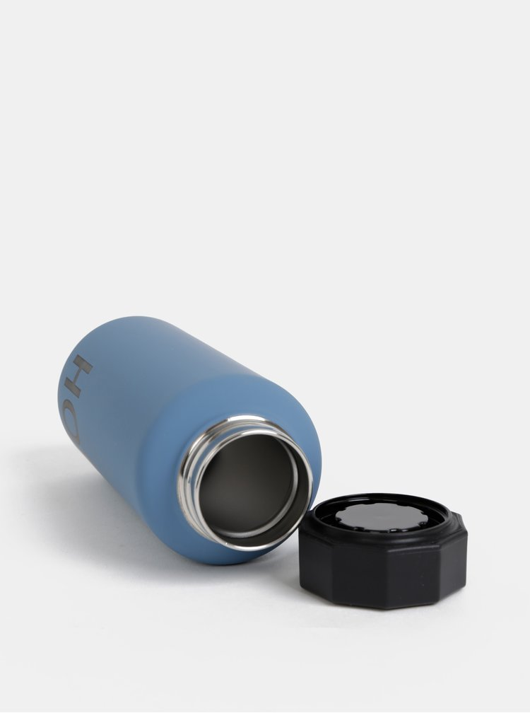 Modrá termo láhev Design Letters Hot 500 ml