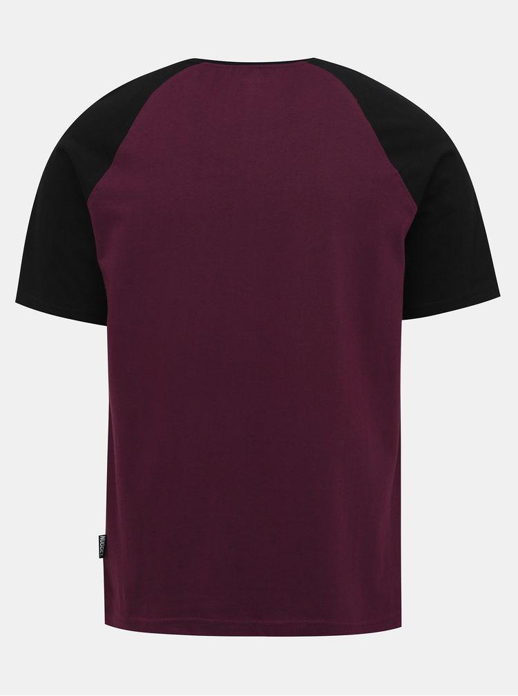 Vínové pánské tričko NUGGET Asset