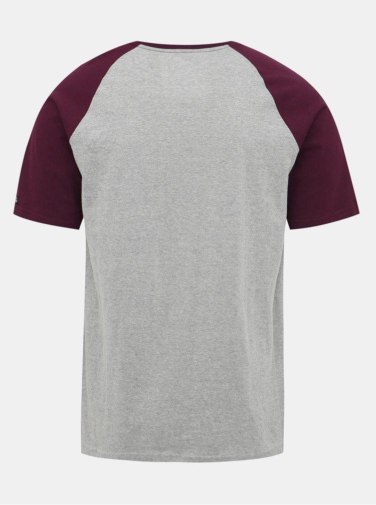 Světle šedé pánské tričko s potiskem NUGGET Asset