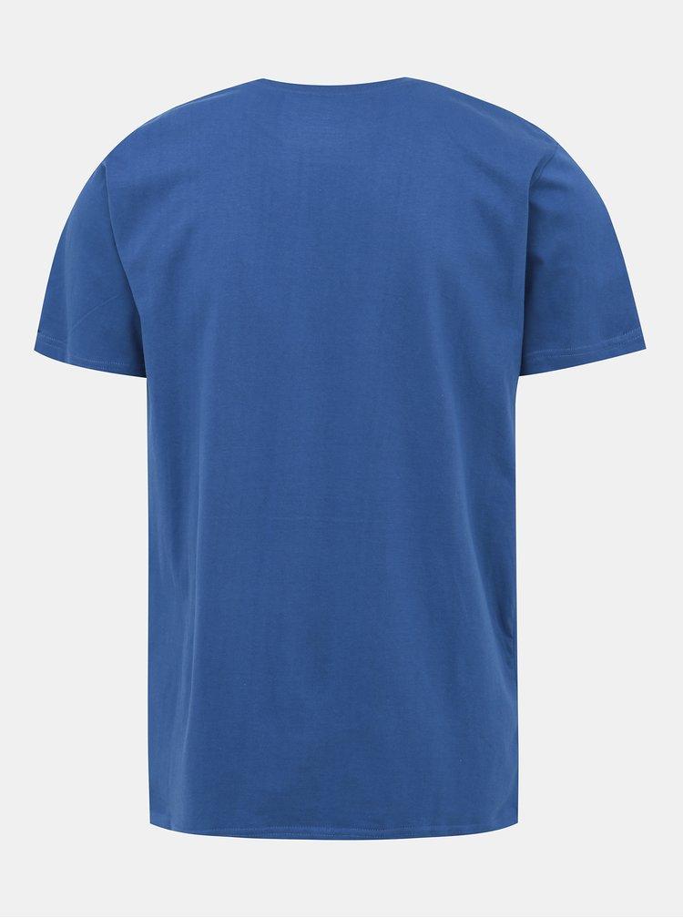Modré pánské tričko s potiskem NUGGET Rewind