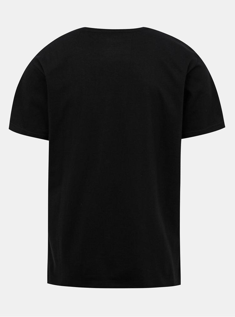 Černé pánské tričko s potiskem NUGGET Radiant