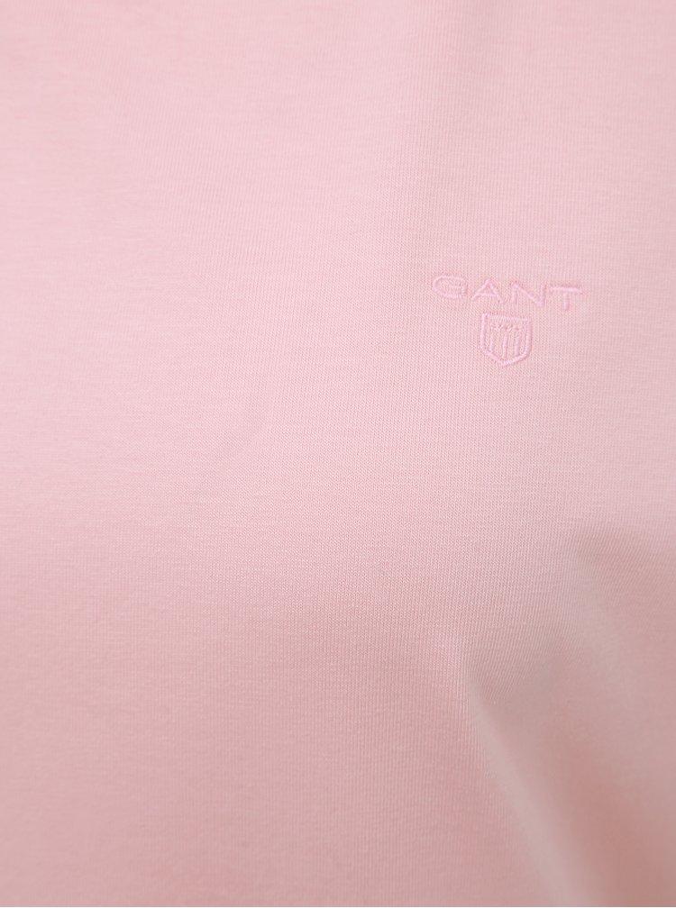 Růžové dámské basic tričko GANT
