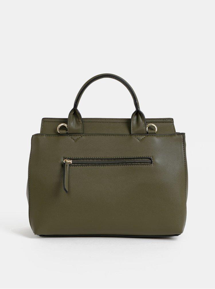 Khaki kabelka s detaily v semišové úpravě Gionni Libourne