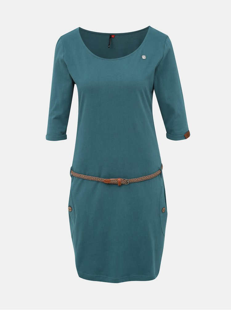 Modré šaty Ragwear Tanya Solid