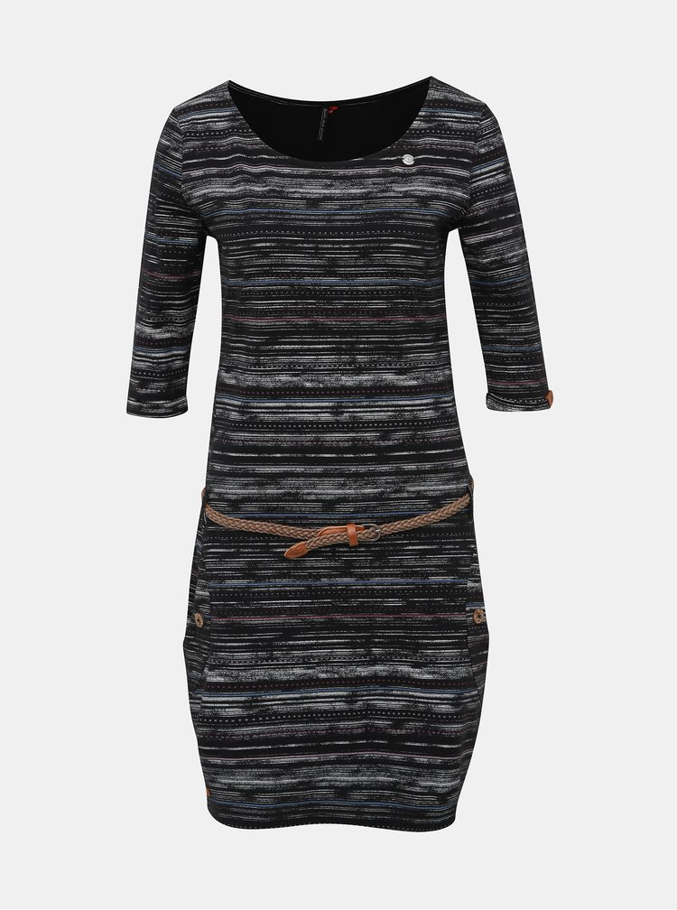 Čierne vzorované šaty Ragwear Tanya Print