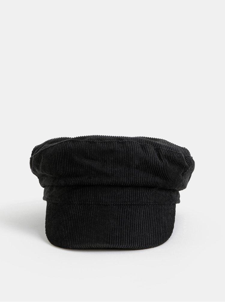 Černá manšestrová kapitánská čepice Pieces Helen