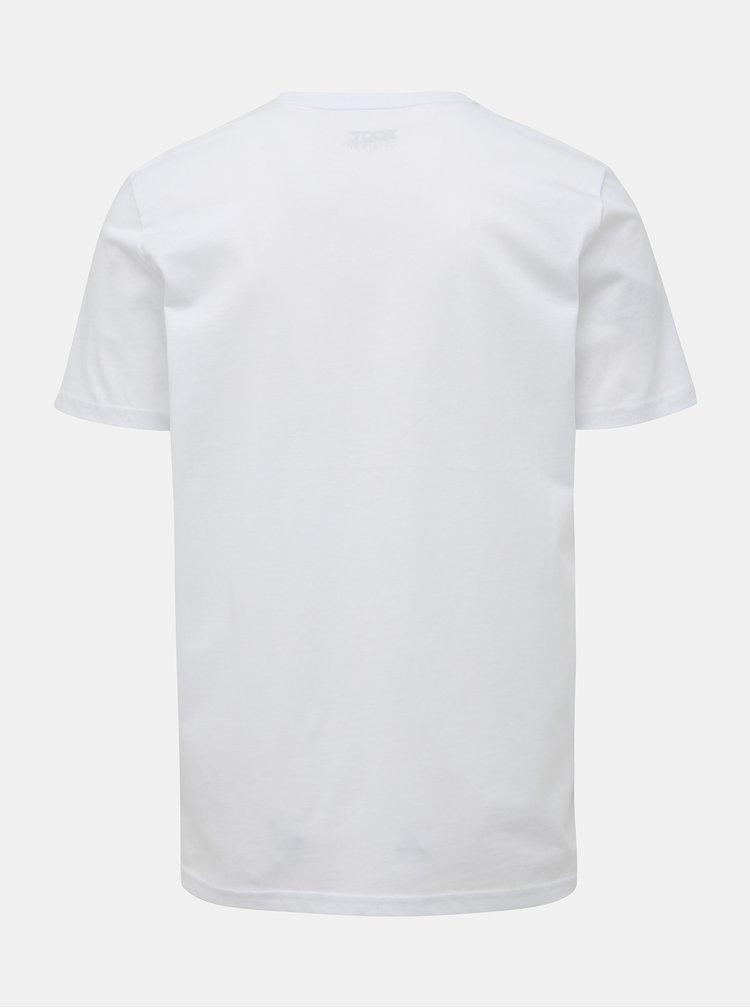 Bílé pánské tričko s potiskem ZOOT Originál Fakt Díky