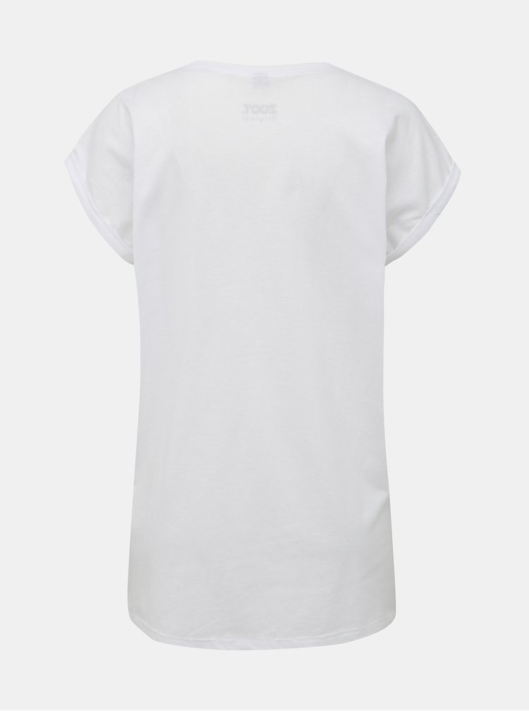 Bílé dámské tričko s potiskem ZOOT Originál neštoffice