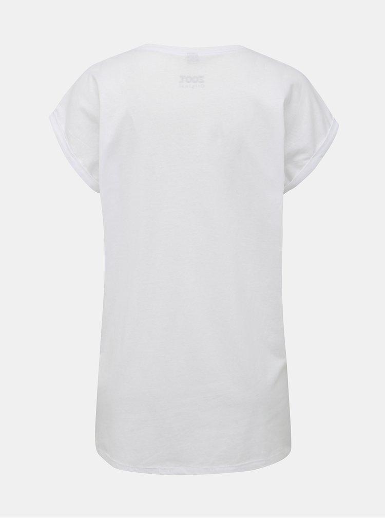 Bílé dámské tričko s potiskem ZOOT Originál Fuck Office