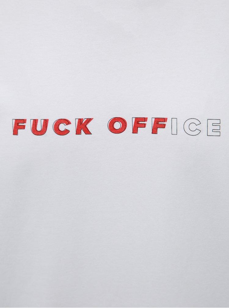 Biele pánske tričko s potlačou ZOOT Originál Fuck Office