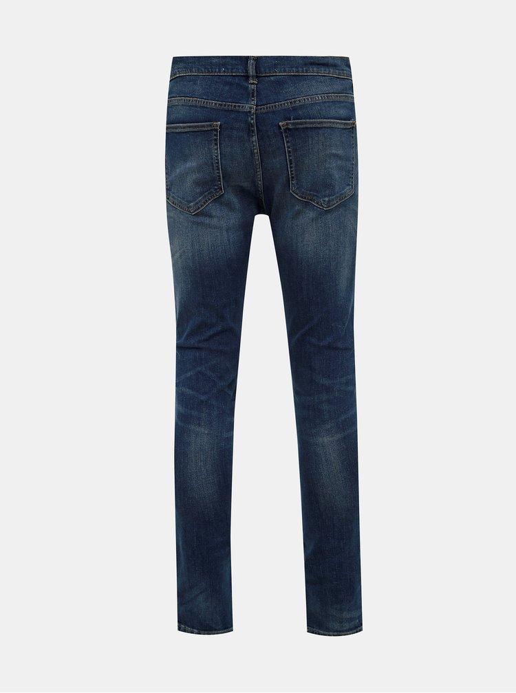 Modré super skinny fit džíny Burton Menswear London