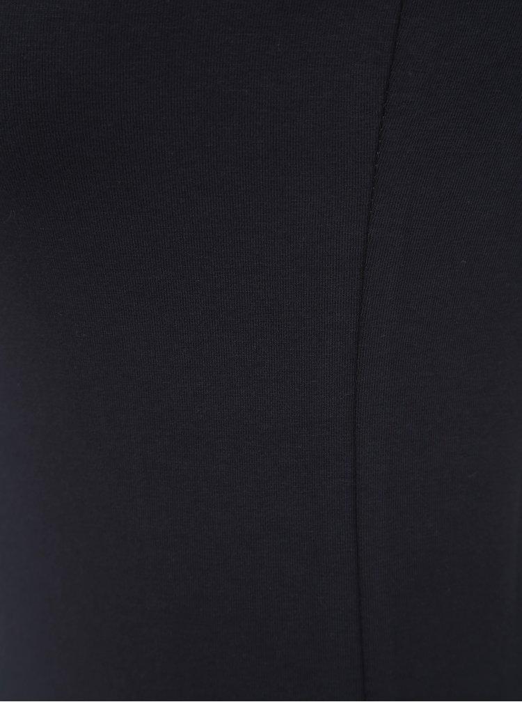 Tmavě modré pouzdrové basic šaty Yest